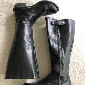 MIA Page style black riding boots. Sz 9M